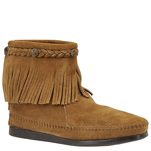 Minnetonka Women's Taupe Suede Hi Top Back Zip Boot 9 B(M) US ()