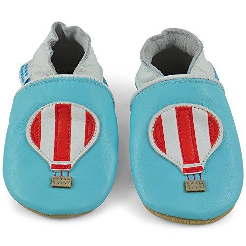 a3962554f3b 24 12 Elástico Zapatillas Patucos Pantuflas Meses Cuero De 6 Piel 18  Aerostático – Niño Bebe Infantiles 18 Globo Niña Pasos ...
