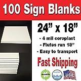 100 Coroplast Sign Blanks (18x24)