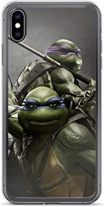 Diskoer Compatible with iPhone X/XS Case Teenage Mutant Ninja Turtles TMNT Michaelangelo Pure Clear Phone Cases Cover
