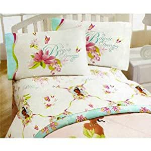 disney princess and the frog twin sheet set tiana girls bed sheets 3 piece bedding. Black Bedroom Furniture Sets. Home Design Ideas