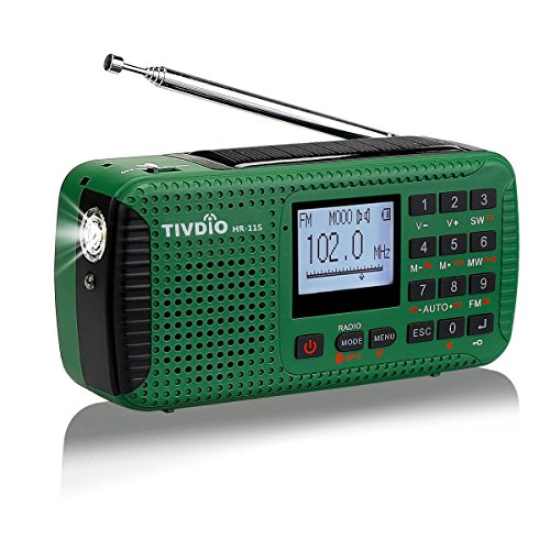 Tivdio HR11S Wind Up Radios Emergency AM/FM/SW Radio Camping Portable Radio...