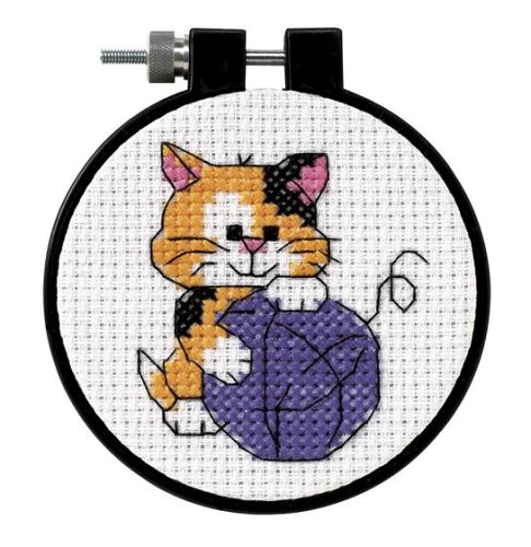 Dimensions Needlecrafts Counted Cross Stitch, Cute Kitty ()
