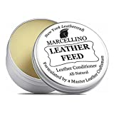 Leather Feed Conditioner | ALL NATURAL | No Animal By-Products | Non-Toxic Care | Marcellino NY | 4oz