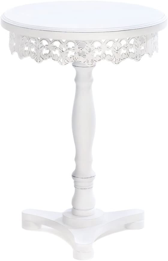 """Koehler 15090 White Flourish Pedestal Table, 21"""": Home & Kitchen"""