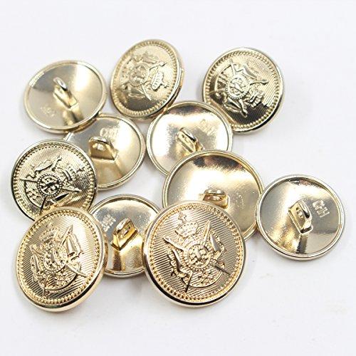 Sport Coat 11 Piece Antiqued Bronze Metal Blazer Button Set Suits Jacket Crown Lion- For Blazer Uniform