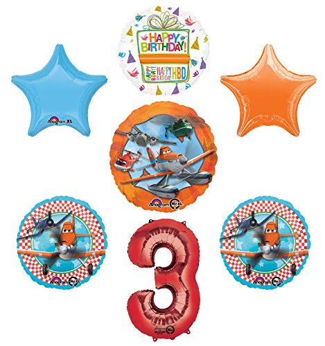 Planes Fire and Rescue 3rd Birthday Party Supplies and Balloon Decoration Bouquet -