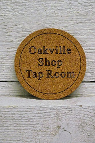 Cork coaster set of six personalized custom engraved. Great gift, for home bar, restaurant, brewery, homebrewer, complement kegerator. Engraved Personalized Coaster