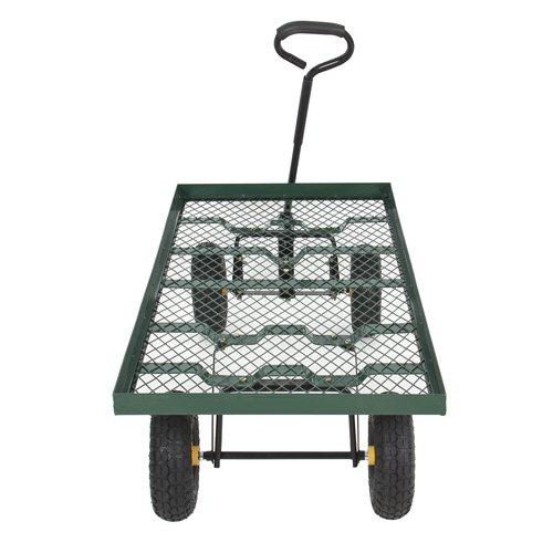 Best Choice Products Wagon Garden Cart Nursery Trailer Heavy Duty Cart Yard Gardening Patio New by Best Choice Products