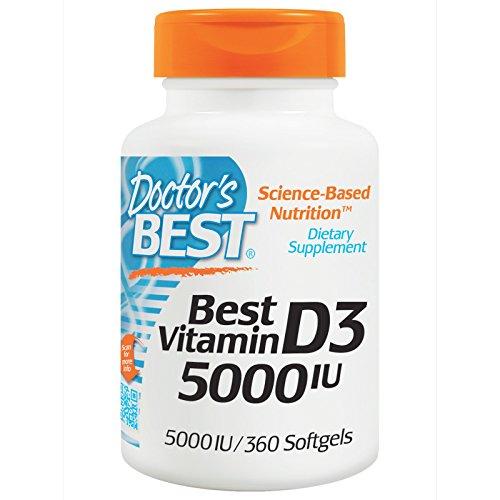 Doctor's Best, Best Vitamin D3, 5000 IU, 360 Softgels - 2pc