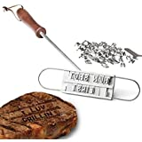 Harlov Enhanced BBQ Meat Branding Iron with Changeable Letters and a Handy Draw-String Carry Bag and Plastic Letter Case…