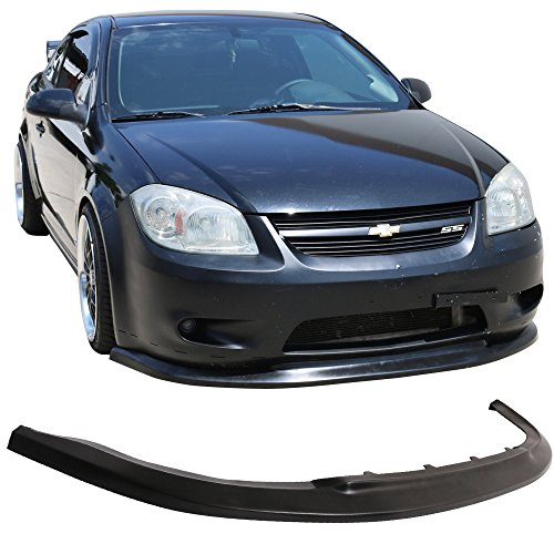 Front Bumper Lip Fits 2005-2010 Chevy Cobalt | ST Style Black PU Front Lip Finisher Under Chin Spoiler Add On by IKON MOTORSPORTS | 2006 2007 2008 2009 - Cobalt Ss