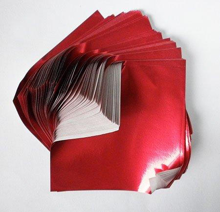 Amazon Com Foil Origami Paper Red 3 5 Inch Square 100 Sheets