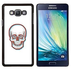EJOOY---Cubierta de la caja de protección para la piel dura ** Samsung Galaxy A7 A7000 ** --Cara 3D Skull Skeleton