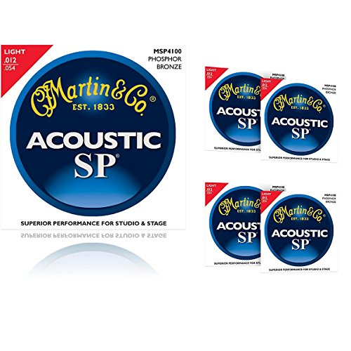 Martin MSP4100 Phosphor Bronze Light Acoustic Strings (Martin Msp4100 Light)