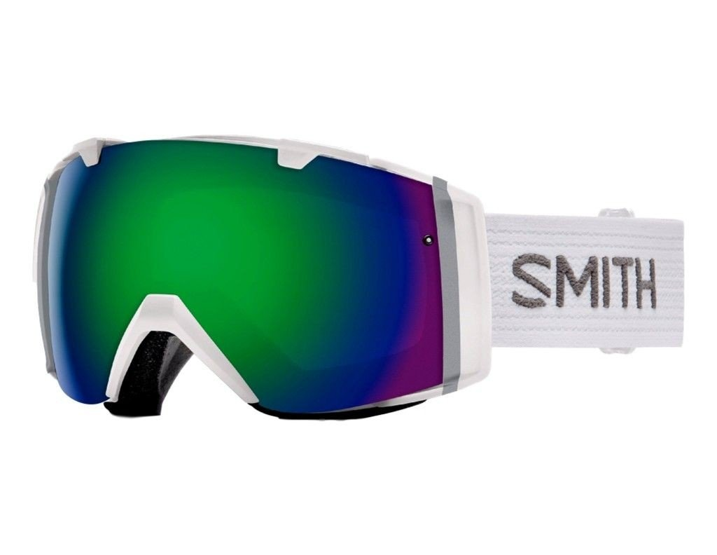 Smith Optics Mens IO Goggles, White/Green Sol-X Mirror Red Sensor Mirror - OS by Smith