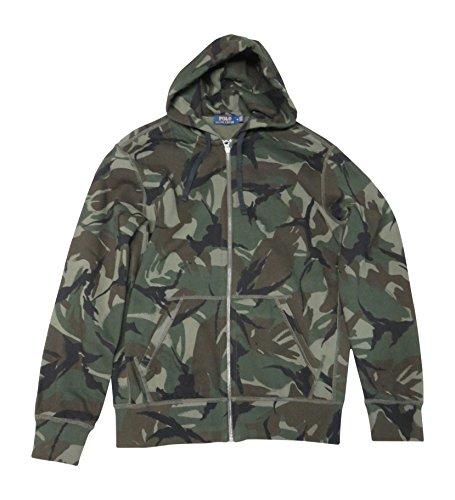 Ralph Lauren Polo Camouflage Hooded Sweat Jacket Hoodie  Medium