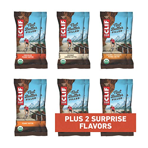 CLIF Nut Butter Filled - Organic Energy Bar - Variety Pack - (1.76 Ounce Protein Snack Bar, 12 Count)