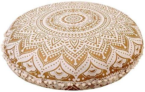 Large Round Mandala Floor Cushion Cover Ethnic Indian Boho Tapestry Ottoman
