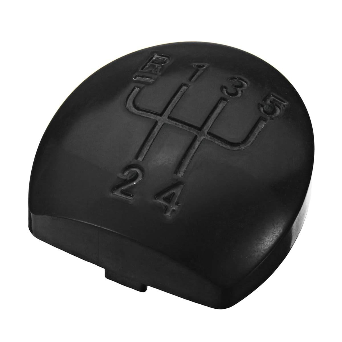 Viviance 5 Speed Car Gear Head Trim Cover Gear Shift Knob Cap For Renault Clio MK2 Black