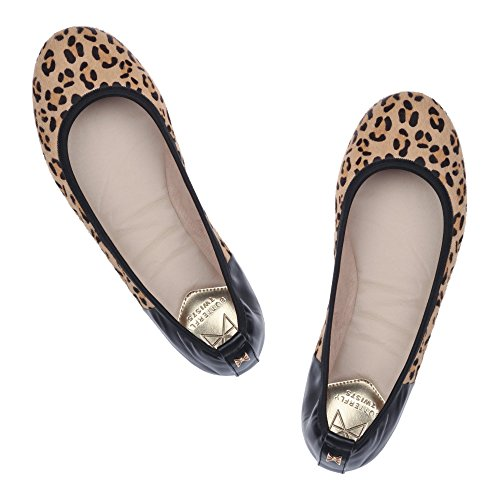 Butterfly Twists Damen Vivienne Faltbar Ballerina Pumps Leopard