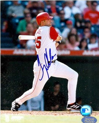 (Troy Glaus autographed photo 8x10 (Anahiem Angels 2002 World Series Champion WS MVP))