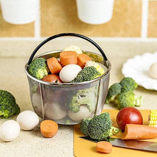 Instant Pot Accessories 6 and 8 qt Steamer Basket, Fits InstaPot Pressure Cooker, Insta Pot Ultra Egg Basket w/Silicone Handle and Non-Slip Legs (Instant Pot 6 and 8 Quart) by Unique Impression (Image #2)
