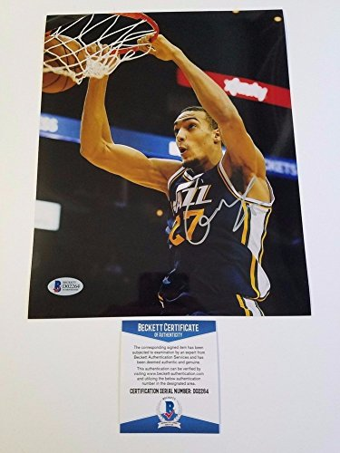 Rudy Gobert Signed 8x10 Photo Bas Beckett Utah Jazz Signed - France Signed