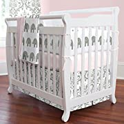 Carousel Designs Pink and Gray Elephants Mini Crib Blanket
