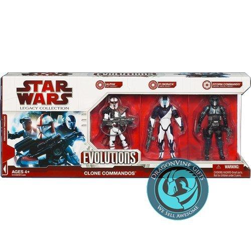 Star Wars Evolutions - Clone Commandos Exclusive 3-pack (Star Wars Clone Wars Arc Trooper Battle Pack)