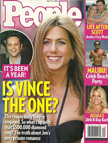 Jennifer Aniston and Vince Vaughn, Jessica Simpson, Matthew McConaughey, Amber Frey - July 24, 2006 People Magazine