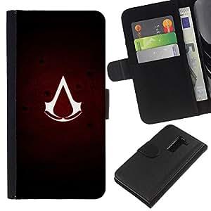 All Phone Most Case / Oferta Especial Cáscara Funda de cuero Monedero Cubierta de proteccion Caso / Wallet Case for LG G2 D800 // Assassins Sign