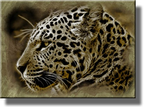 - Head of Jaguar Picture on Stretched Canvas, Wall Art Décor, Ready to Hang!