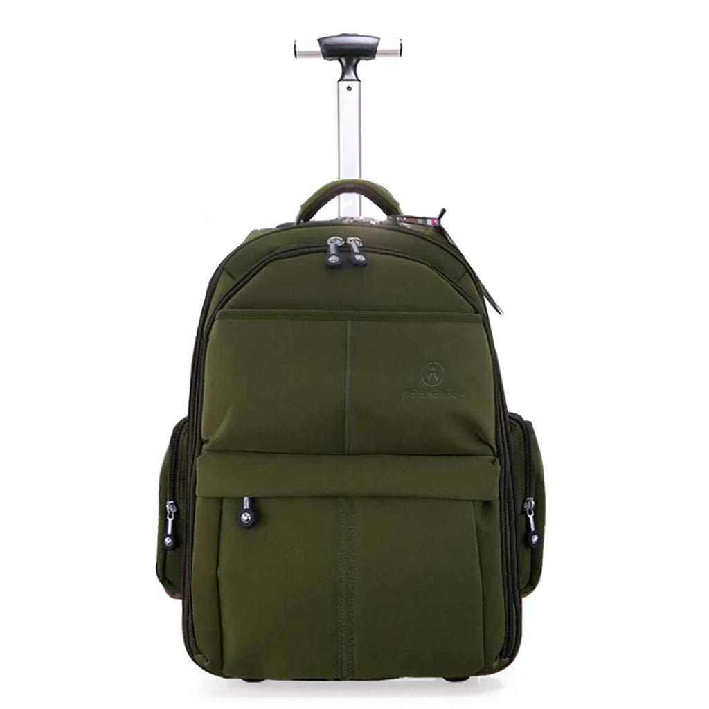 車輪付きトロリーバックパックキャスター付きバックパックナイロンローリングバックパック旅行エグゼクティブモバイルオフィスビジネスハンドキャビン荷物について B07MNM74B2 A Large