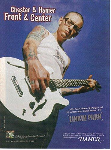Print ad: 2007 Hamer Custom Newport Pro Guitar, Chester Bennington, Linkin Park