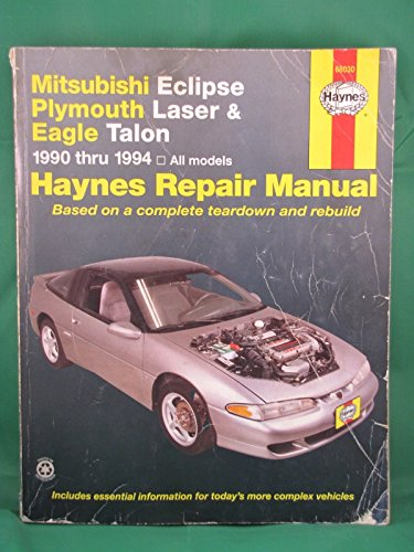 1990-1994 Haynes Repair Manual - Mitsubishi Eclipse/Plymouth Laser/Eagle (Motor Eclipse Laser)
