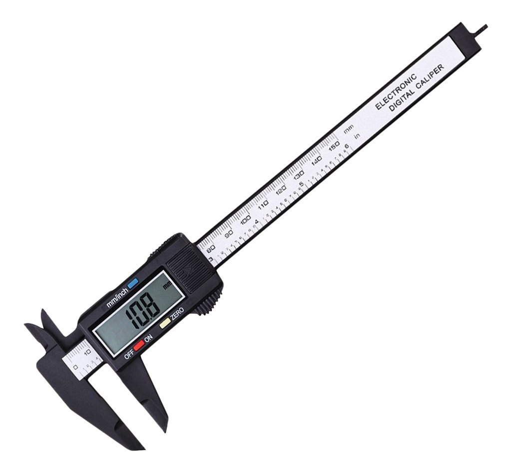 Digital Calipers 100 mm 4 inch LCD Digital Electronic Carbon Fiber Vernier Caliper Gauge Micrometer Ruler Plastic Micrometer Digital Vernier Caliper CACHOR