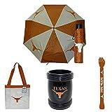 University of Texas (UT) Longhorn Fan Gift Box Products (Girl) - Clear See-Thru Purse, Umbrella, Magna Coolie & Backscratcher BUNDLED!