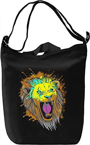 Colorful Lion Borsa Giornaliera Canvas Canvas Day Bag  100% Premium Cotton Canvas  DTG Printing 
