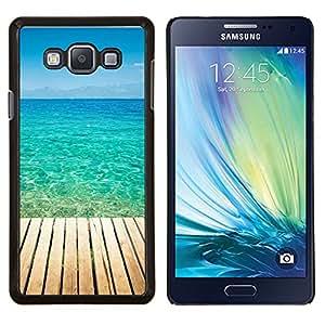 Jordan Colourful Shop - Blue Paradise Water For Samsung Galaxy A7 Personalizado negro cubierta de la caja de pl????stico