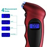 OMorc Tire Gauge,Digital Tire Pressure Gauge with 100 PSI 4 Settings,Backlit LCD and Non-Slip Grip,Accurate for Cars, Trucks, Motorcycles and Bicycles