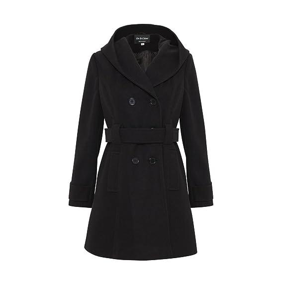7b920132b6ab1 De La Creme - Womens Hooded Winter Belted Coat  Amazon.co.uk  Clothing