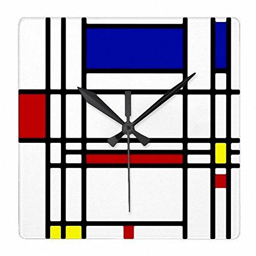 ピエトモンドリアン『 コンポジション 』の壁掛け時計:ピクチャークロック(世界の名画シリーズ) (A) [並行輸入品] B07CRKWB8X A A