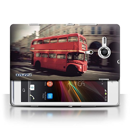 Etui / Coque pour Sony Xperia SP/C5303 / Rouge Bus conception / Collection de Londres Angleterre