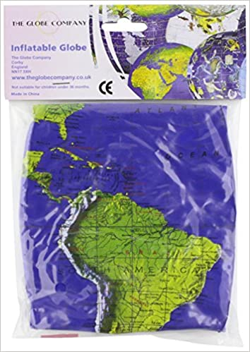 12' Dark Blue Topographical Inflatable Globe