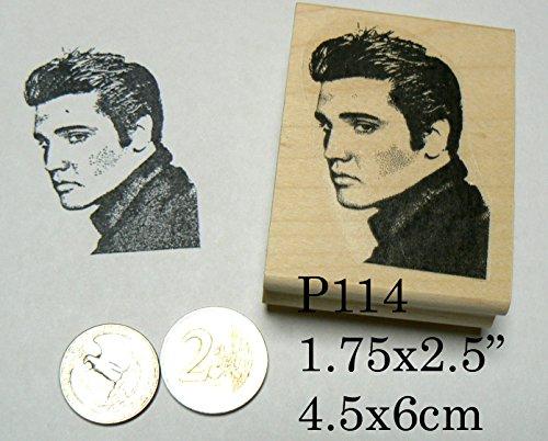 P114 Elvis Rubber Stamp