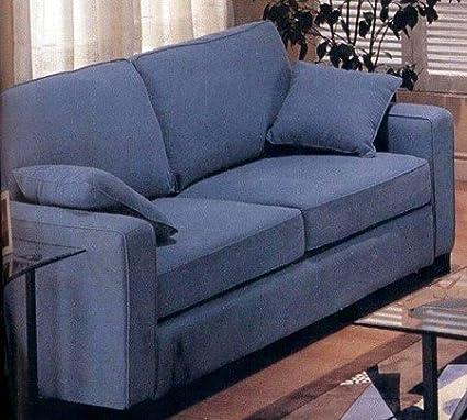 Amazon.com: Tara Collection Blue Fabric Versatile Denim Sofa ...