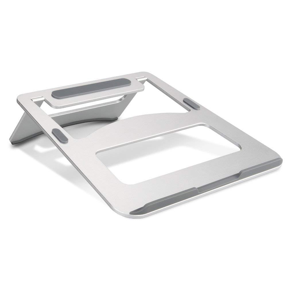 Laptop Stand STOGA Aluminum Ventilated Thin Portable Stand Table Folding Cooling Pad for iPad Pro MacBook Notebook Tablet Silver