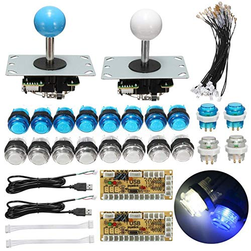 Arcade Kit Dual USB Encoder Controller Joystick Push Button - Arcade Video Games DIY Arcade Kits - 2 x PC Encoder Boards -
