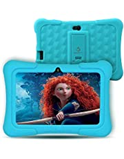 """Dragon Touch Y88X Plus Kids Tablet 16 GB 2019 Edition, 7"""" HD IPS Display Touchscreen Kidoz Pre-Installed with All-New Disney Content (More Than $80 Value) - Blue"""